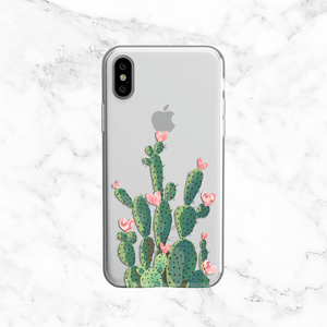 Prickly Pear Cactus - Valentine's Day Clear TPU Case