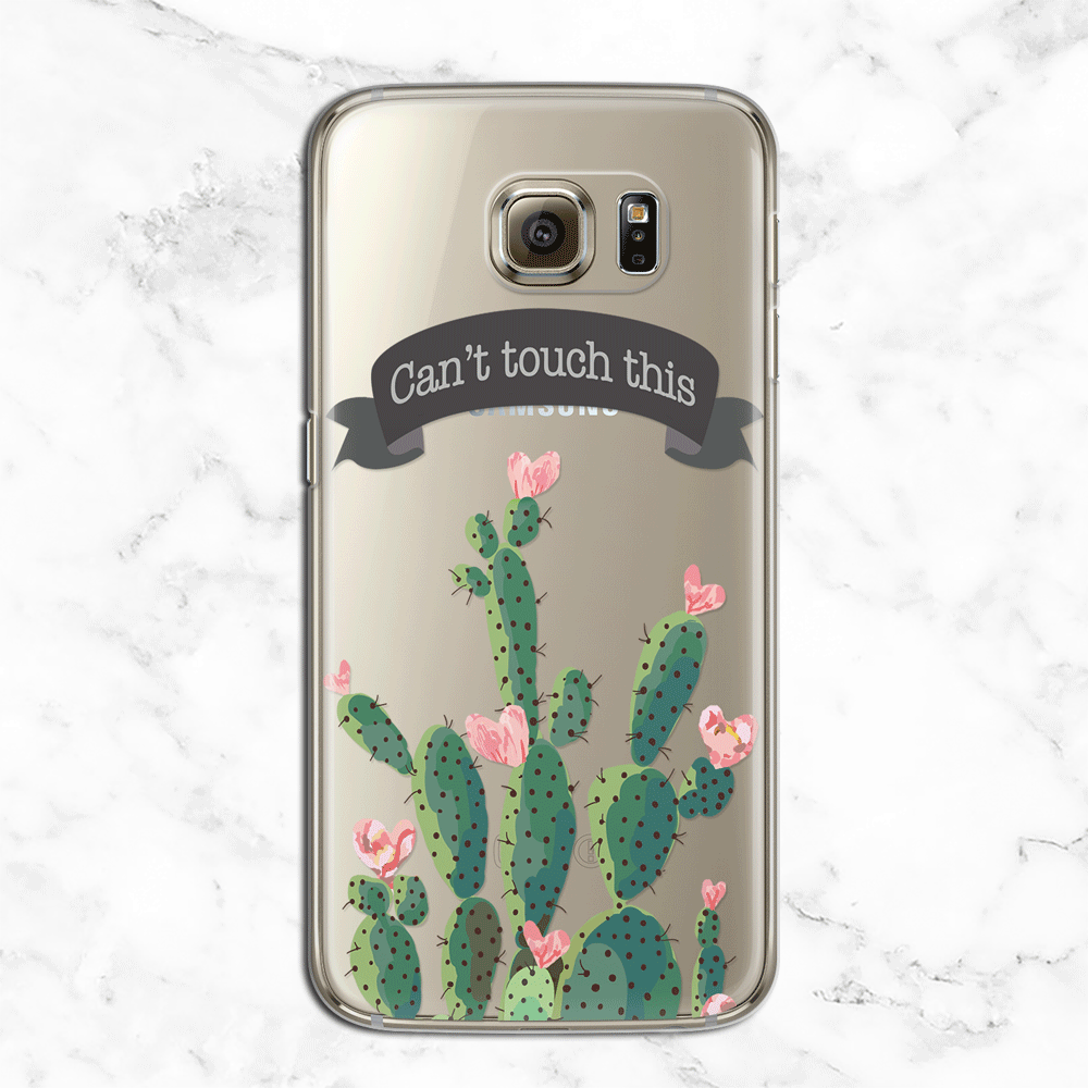 Can't Touch This Cactus - Valentine's Day Clear Phone Case