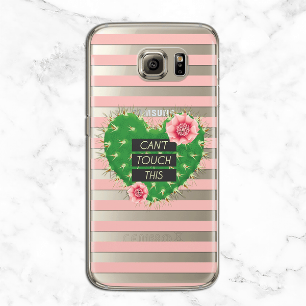 Can't Touch This - Valentine's Day Clear Phone Case