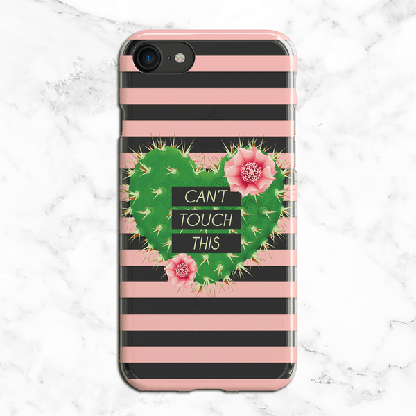 Can't Touch This Prickly Pear Cactus iPhone and Galaxy Phone Case