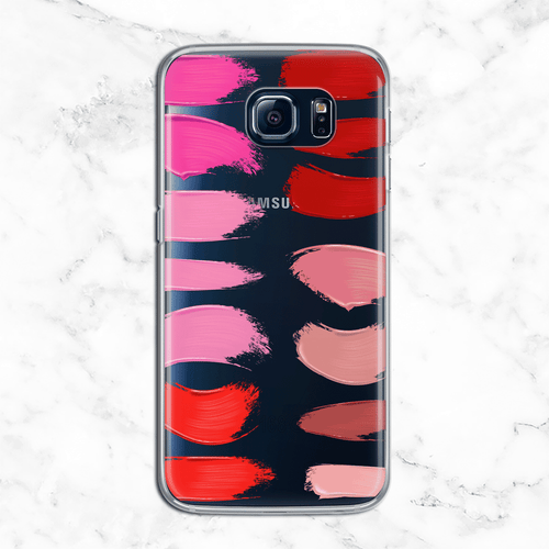 Lipstick Palette - Clear TPU Phone Case Cover