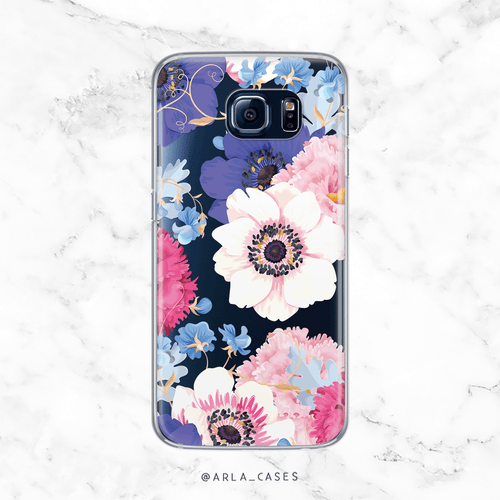 Spring Poppy Flowers - Clear Printed TPU Phone Case