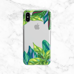 Tropical Leaves -  Clear TPU Case