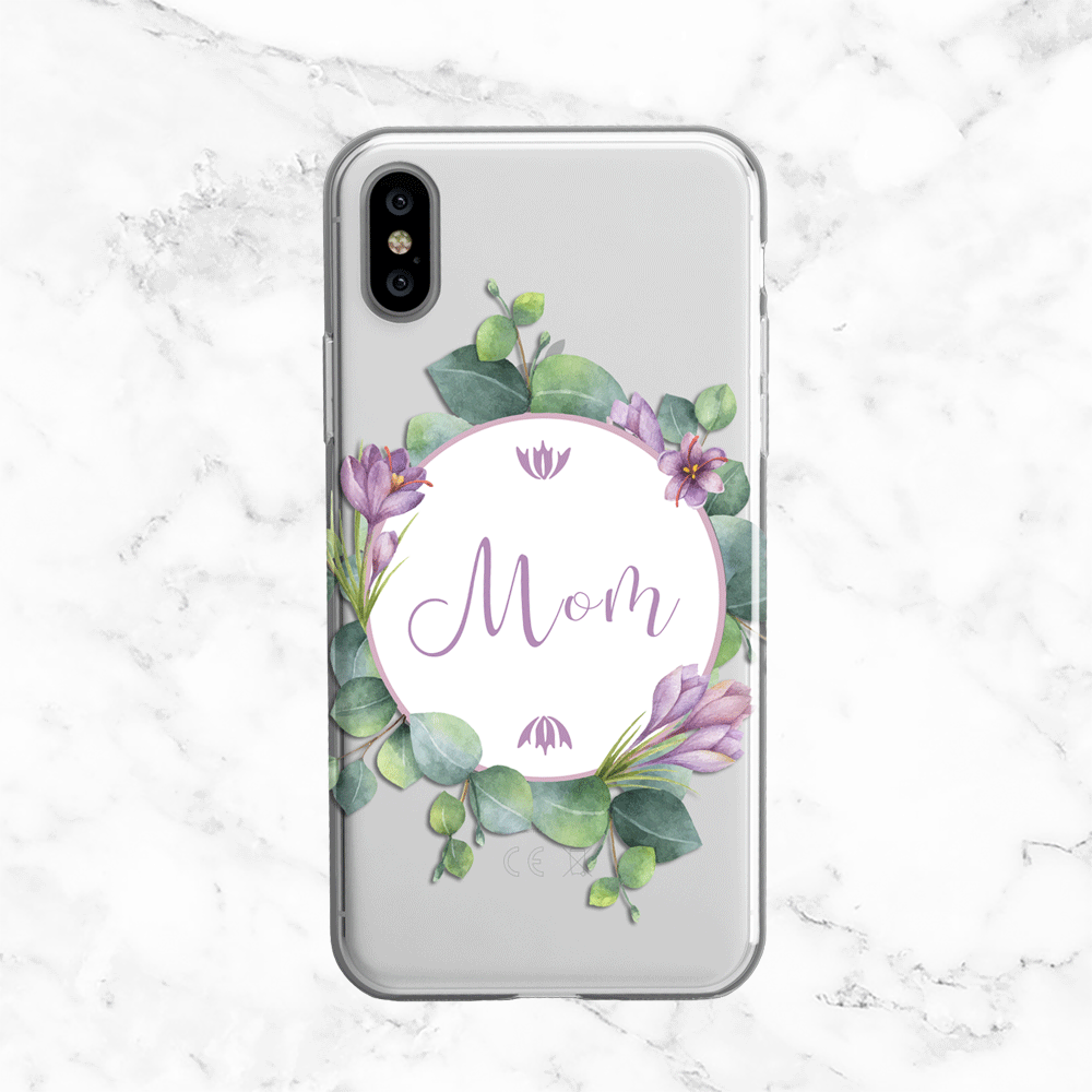 Personalized Name Eucalyptus iPhone X Case