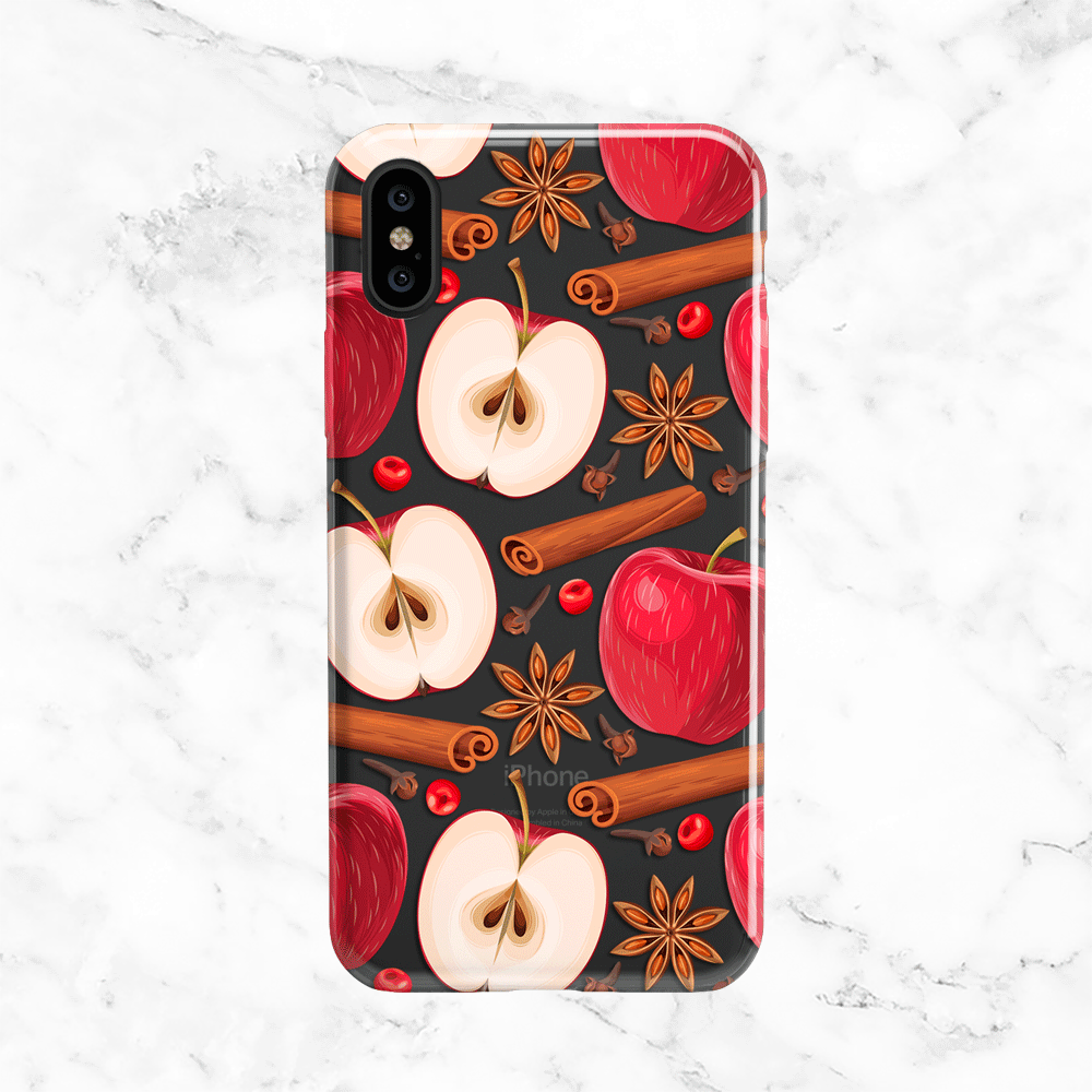 Winter Apples and Cinnamon Clear TPU Phone Case