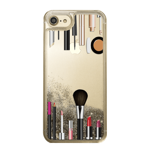 Makeup Kit Gold Glitter Phone Case