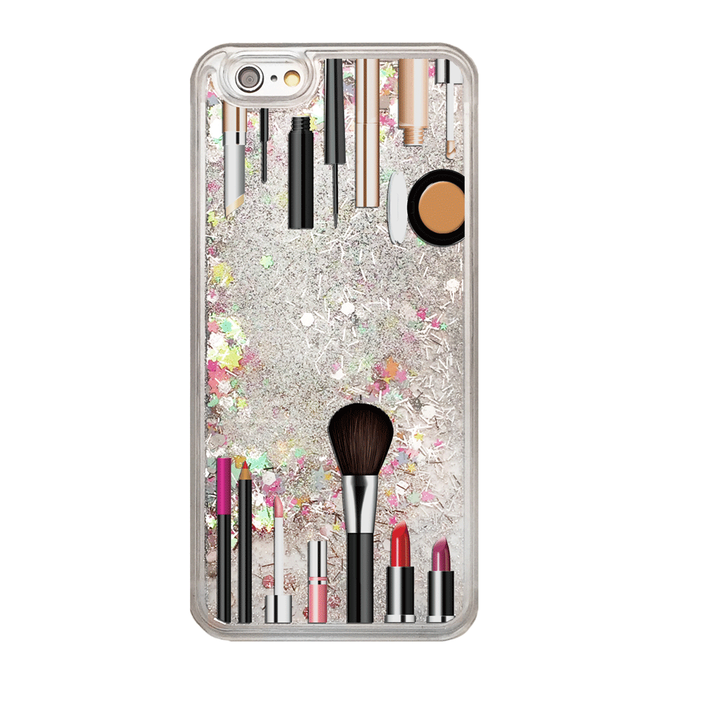Rainbow Glitter Makeup Kit Phone Case