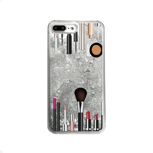 Silver Glitter Makeup Kit iPhone Case