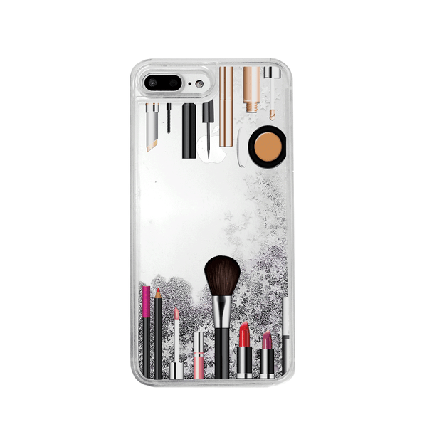 Makeup Kit Silver Glitter Phone Case