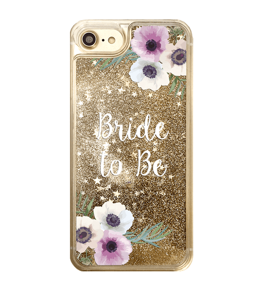 Gold Glitter Bride to Be iPhone Case