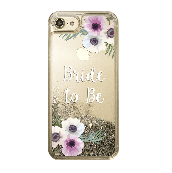 Bride to Be Gold Glitter Phone Case
