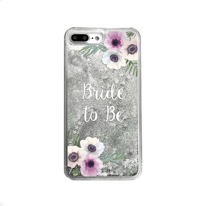 Silver Glitter Bride to Be iPhone Case