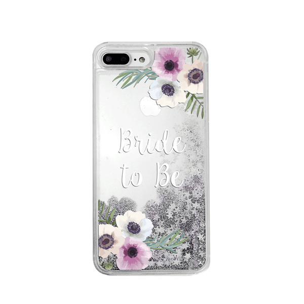 Bride to Be Silver Glitter Phone Case