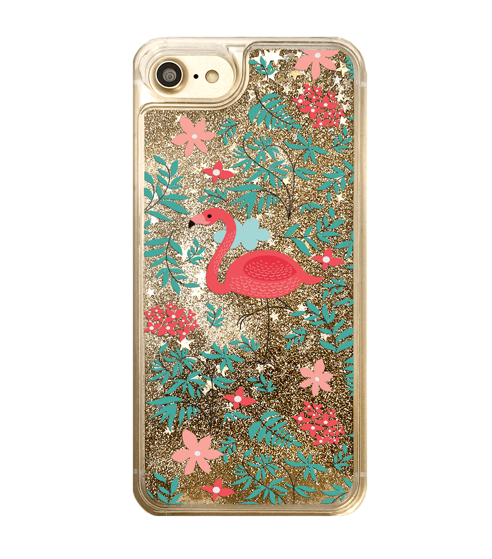 Gold Glitter Flamingo iPhone Case