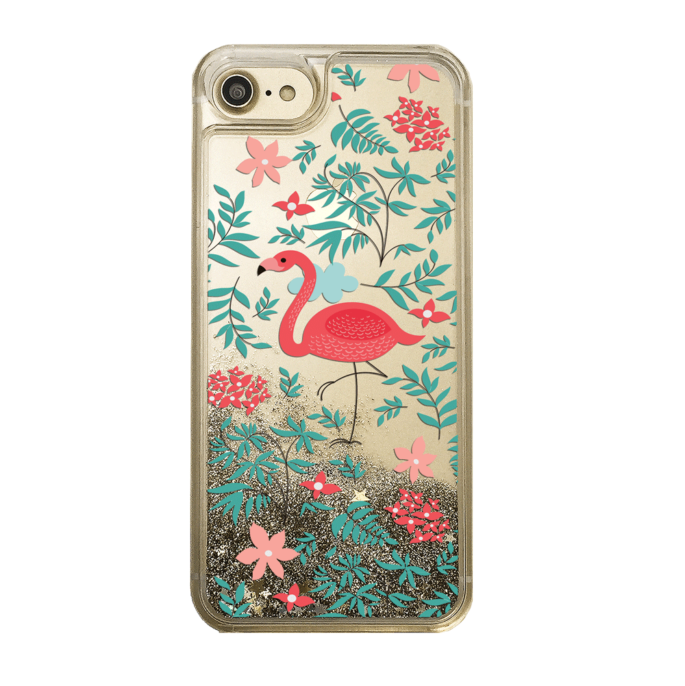 Flamingo Gold Glitter Phone Case