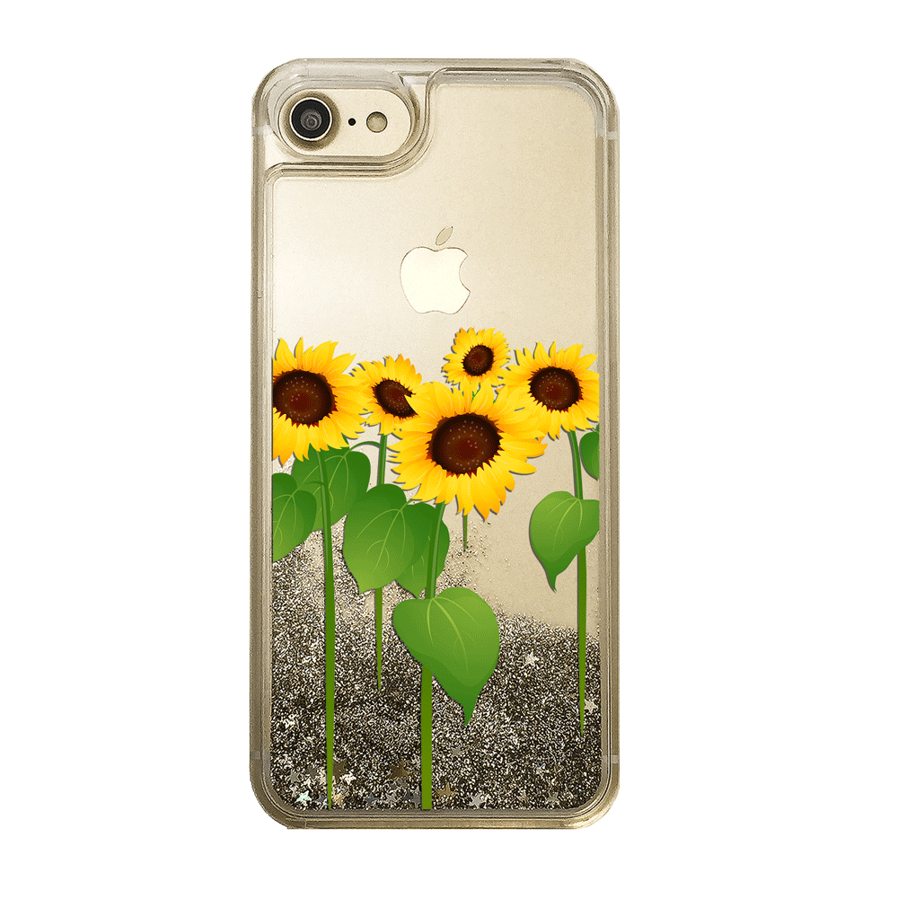 Sunflowers Gold Glitter Phone Case