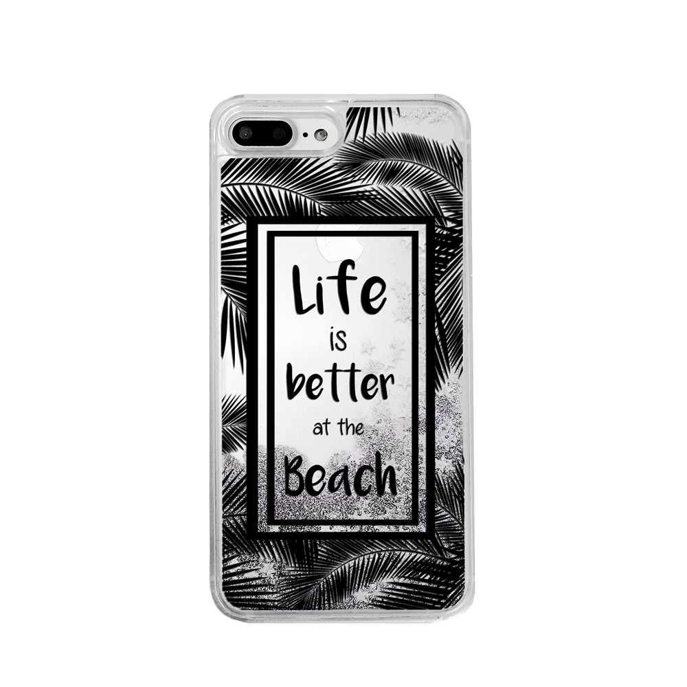 Life is Better at the Beach Silver Glitter Phone Case