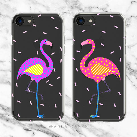Retro Flamingo Phone Case Set