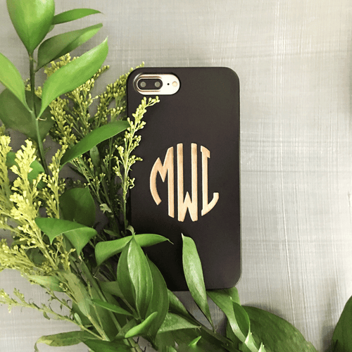Custom Classic Monogram - iPhone and Galaxy Wood Case