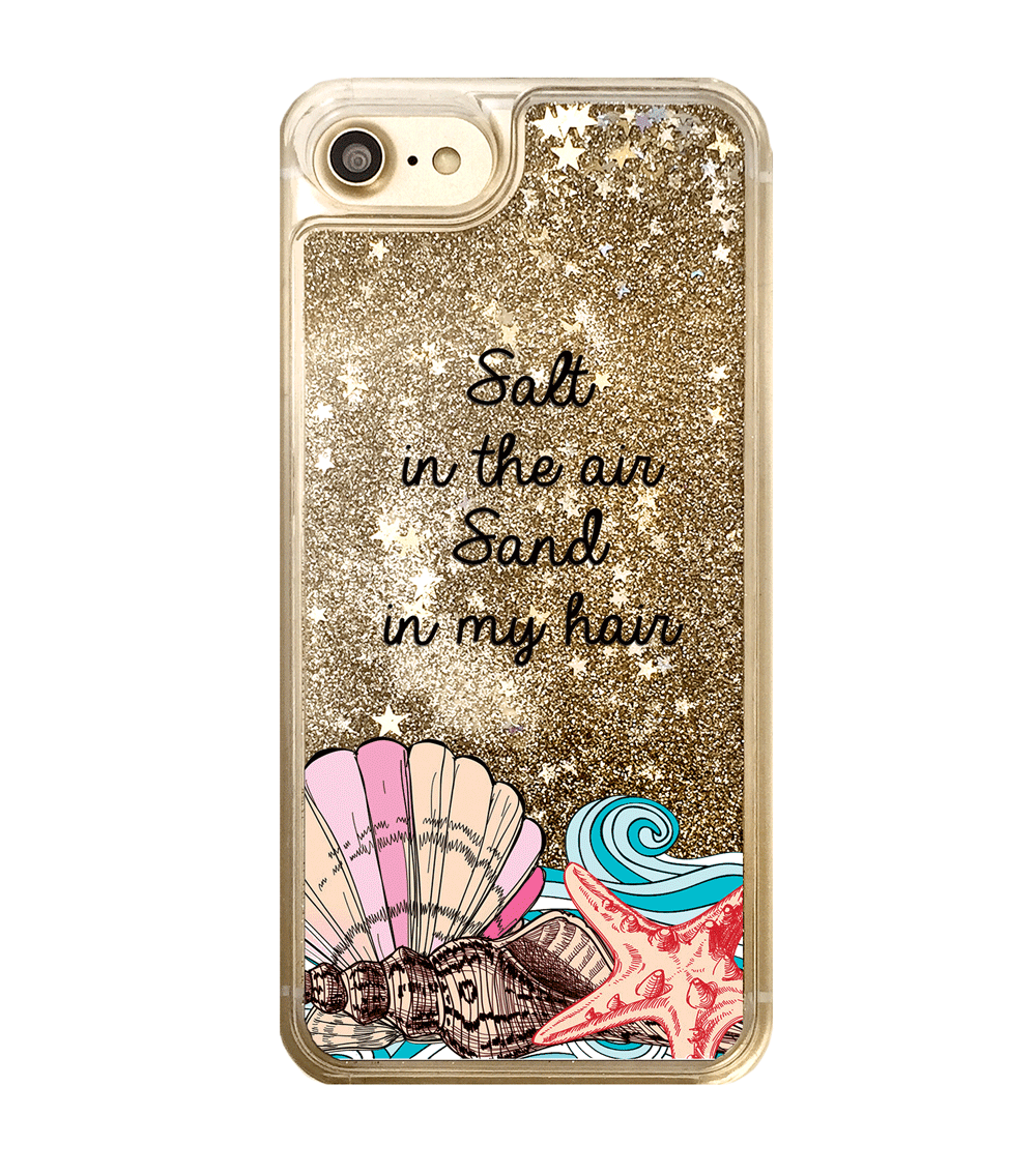 Gold Glitter Salt in the Air Sand in my Hair iPhone Case