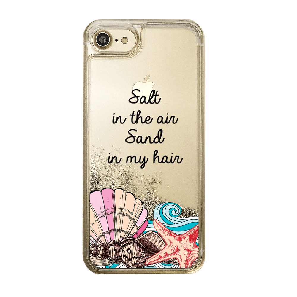 Beach Vibes Gold Glitter Phone Case