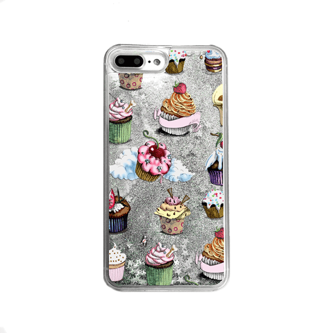 Poppy Flowers Silver Glitter Phone Case