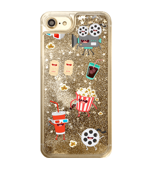Gold Glitter Movie Lover iPhone Case