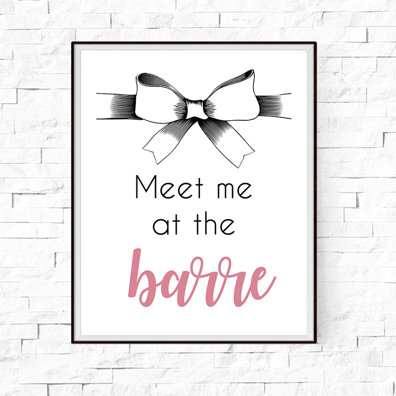 Meet Me at the Barre Wall Art Print