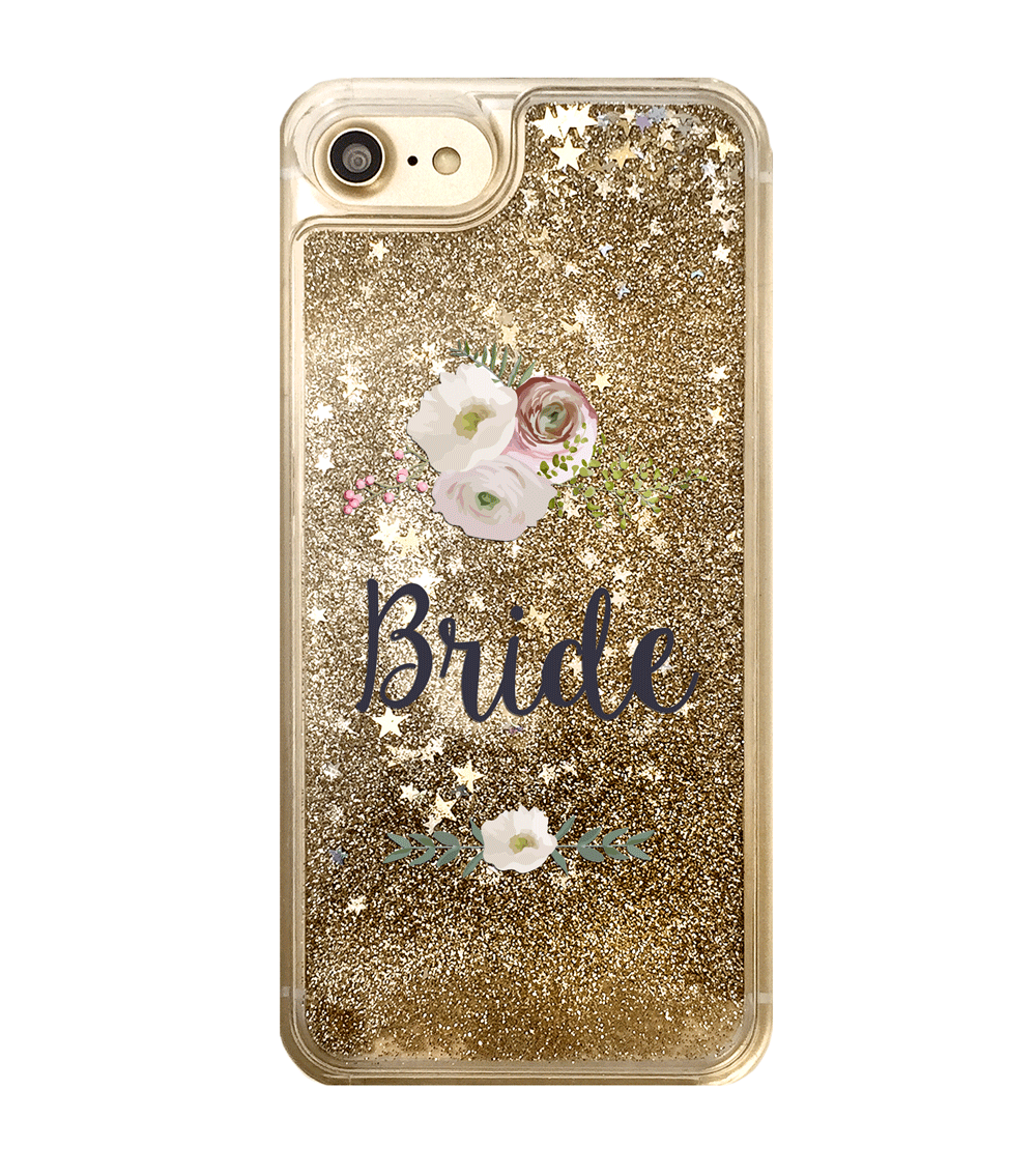 Gold Glitter Bride iPhone Case