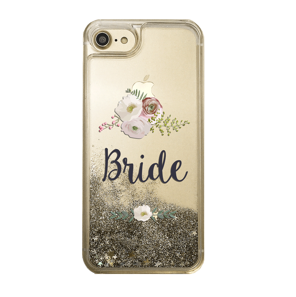Bride Gold Glitter Phone Case