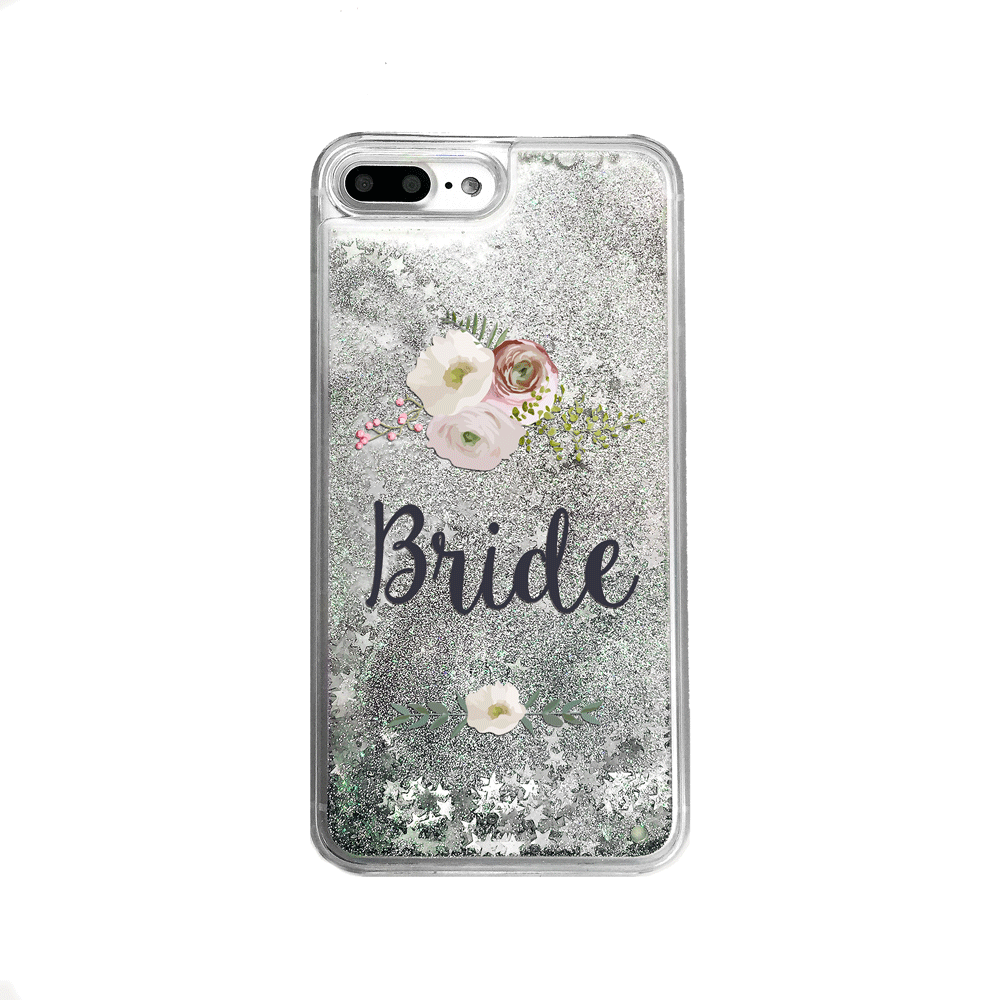 Silver Glitter Bride iPhone Case