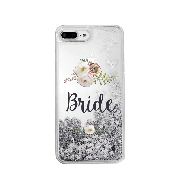 Bride Silver Glitter Phone Case