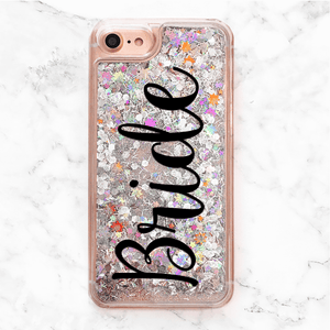 Liquid Glitter Rainbow Bride iPhone Case