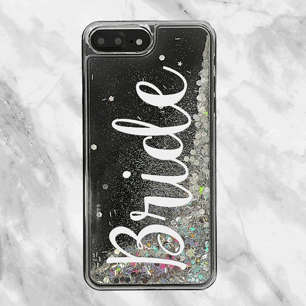 Bride Script Rainbow Glitter Phone Case