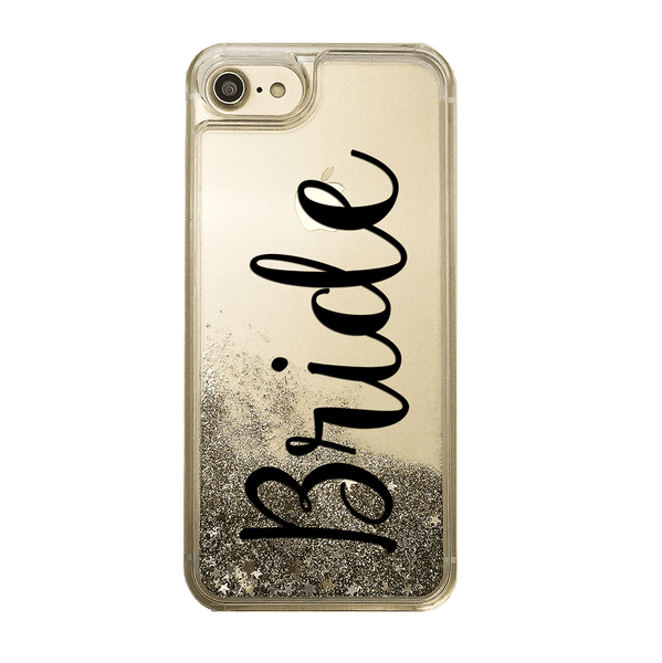 Bride Script Gold Glitter Phone Case