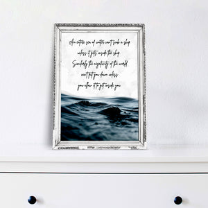 Sea of Negativity  - Art Print