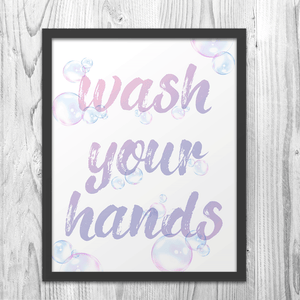 Wash Your Hands Bubbly Art Print