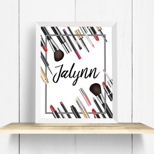Custom Makeup Name - Art Print
