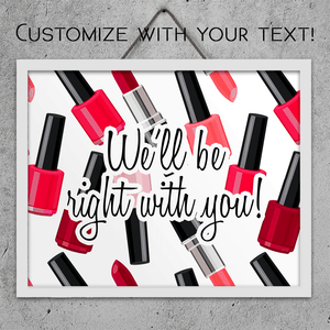 Custom Nail Polish & Makeup - Art Print