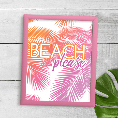 Beach Please Wall Art Print