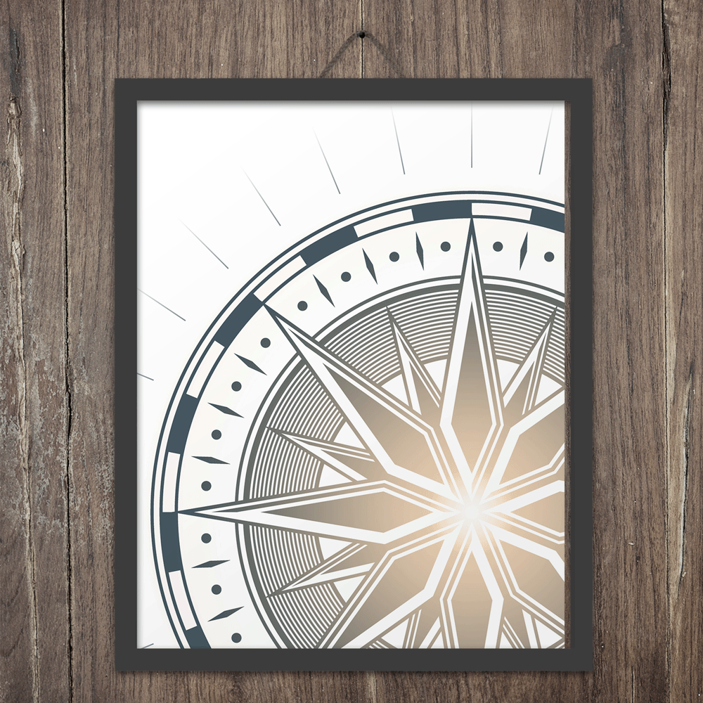 Traveler's Compass - Art Print