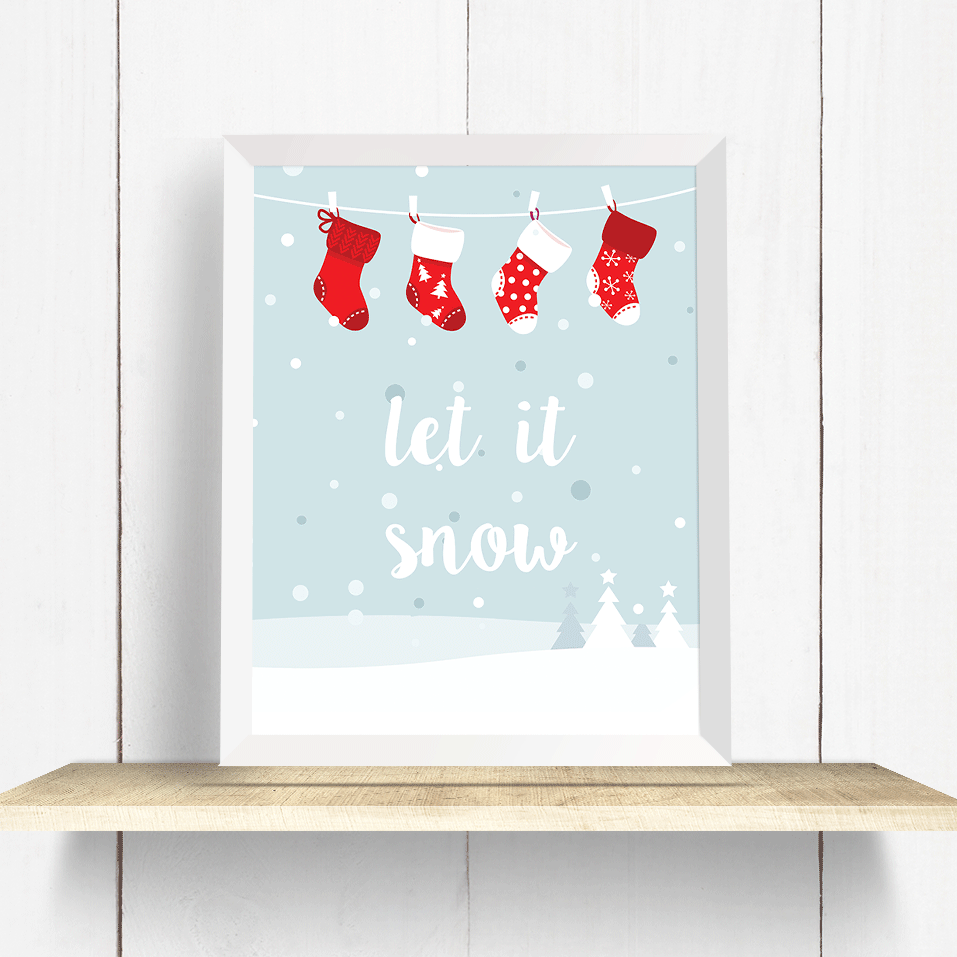 Let it Snow Wall Art Print
