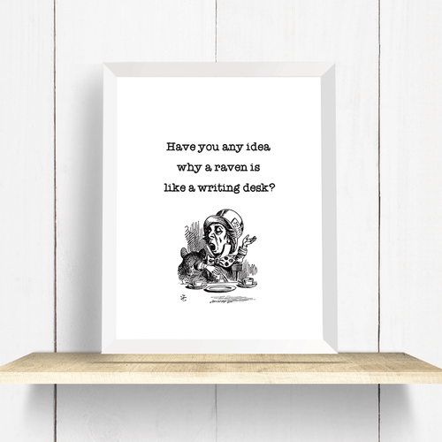 Alice in Wonderland Mad Hatter Quote Wall Art Print