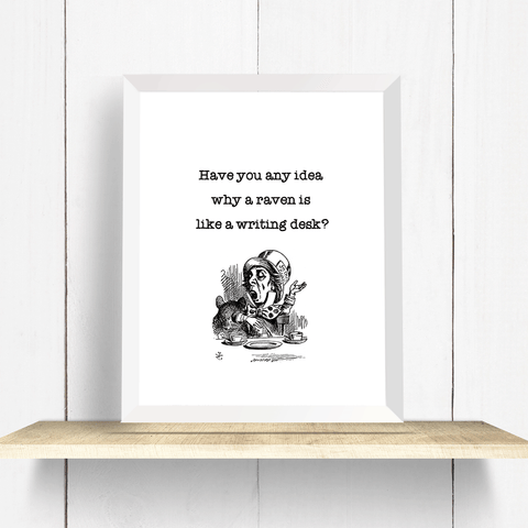 Rumi Quote with Swallow - Art Print