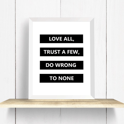 Shakespeare Quote Wall Art Print