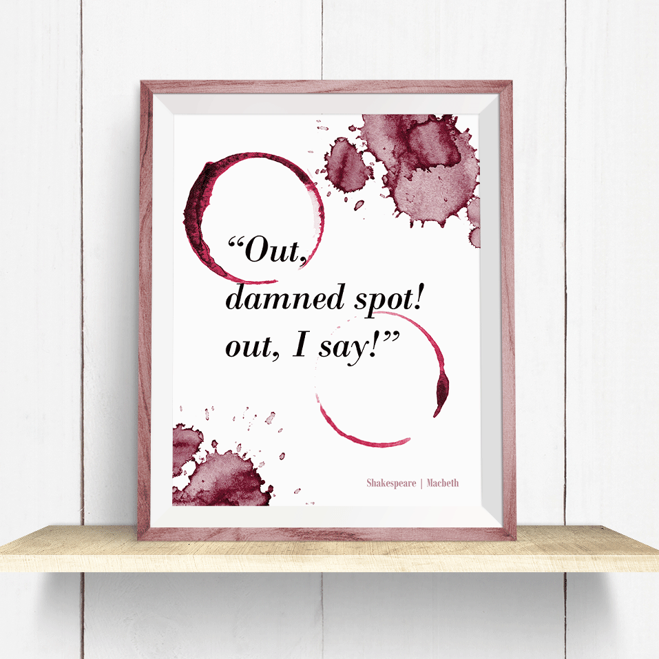 Shakespeare Macbeth Wine Quote - Art Print