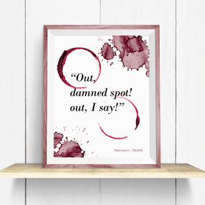 Funny shakShakespeare Macbeth Wine Quote - Art Print