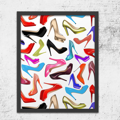 High Heel Stiletto Wall Art Print