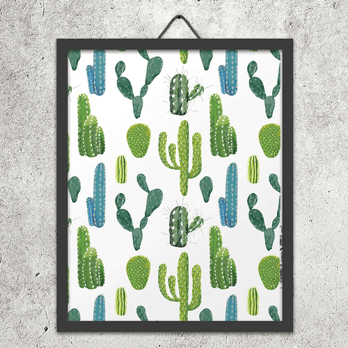 Watercolor Cacti Wall Art Print