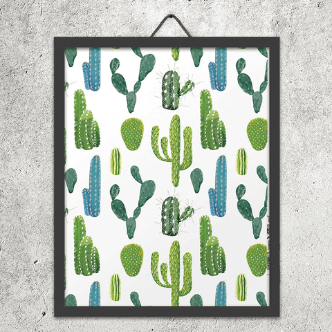 Green Cactus and Succulent Phone Case - Clear Printed TPU